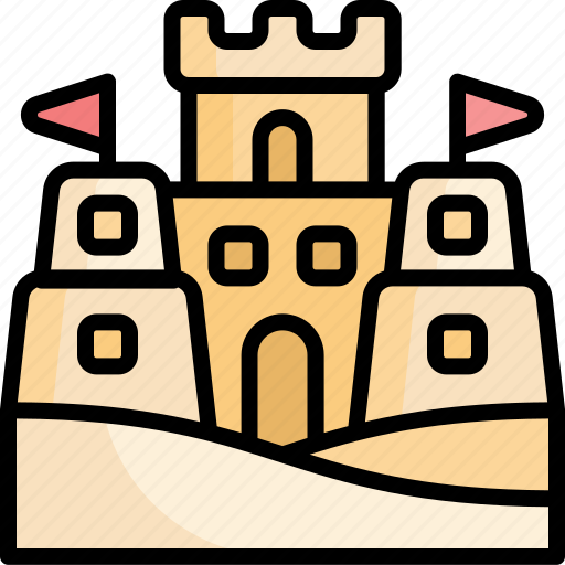 Sand, castle, beach, vacation, holiday, summer icon - Download on Iconfinder