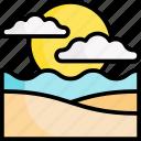 beach, holiday, vacation, summer, sunset, sunrise