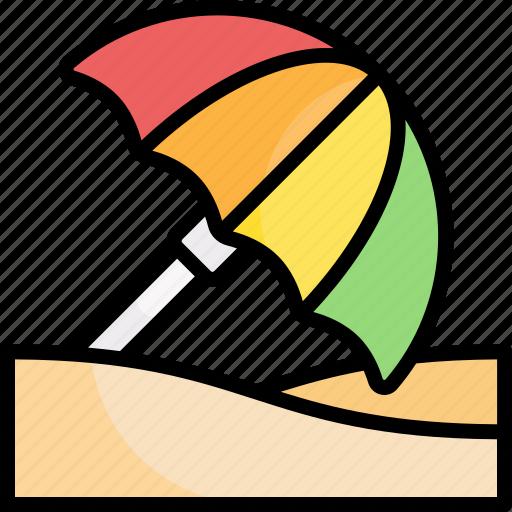 Beach, umbrella, holiday, vacation, summer icon - Download on Iconfinder
