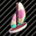 sailboat, summer, beach, sport, sea