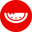 melon, red, sweet, watermelon icon