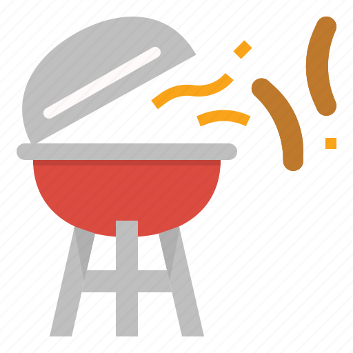 barbecue, beach, grill, party, picnic, sausage, summer icon