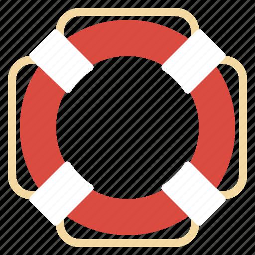 beach, lifeguard, ring, rubber, safe, security icon