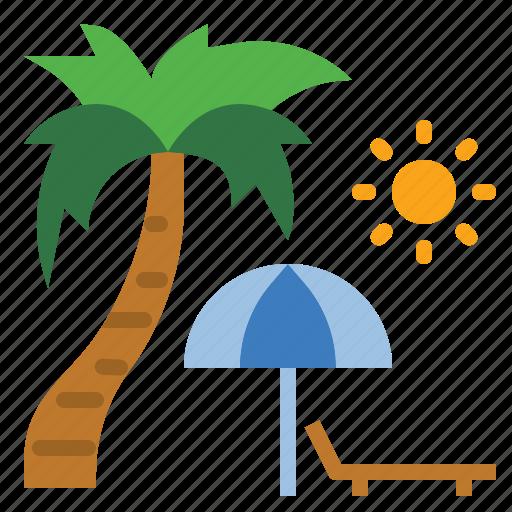beach, hot, sea, summer, travel, trip, vacation icon