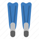 activity, diving, fins, sea, sport, summer, swim icon