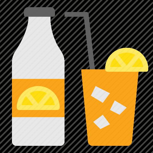 drink, fresh, juice, lemon, orange, summer icon