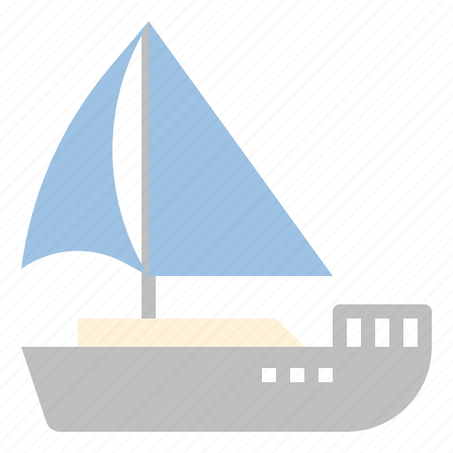 boat, sailing, sea, summer, travel icon