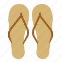 beach, sand, sandals, shoes, summer, wear icon