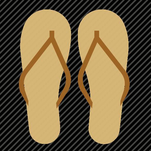beach, sand, sandals, shoes, summer, wear icon