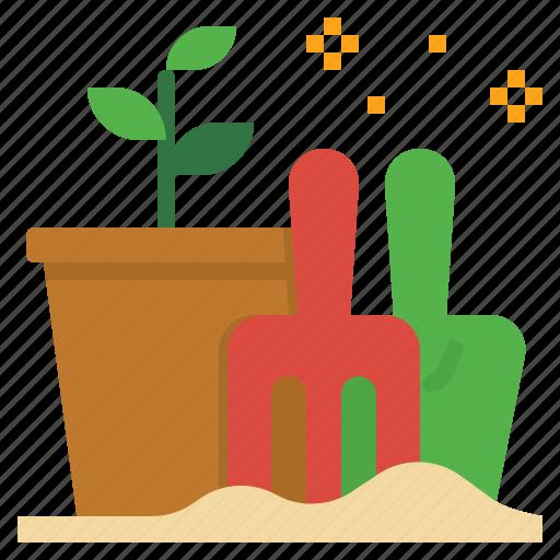 flower, garden, grow, plantation, planting, seed, summer icon
