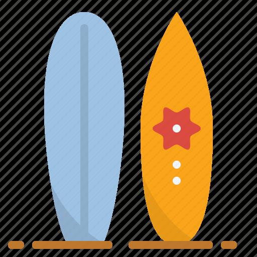 Summer, surfing, surfboard, activity, sport, beach icon - Download