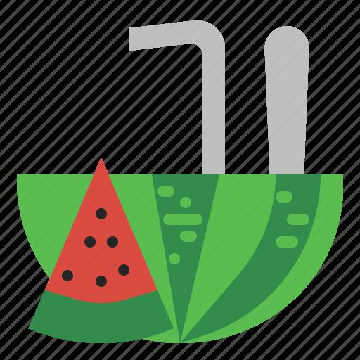 beach, drink, fresh, fruit, summer, vacation, watermelon icon