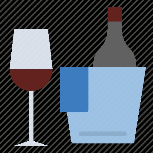 dinner, drink, summer, wine icon