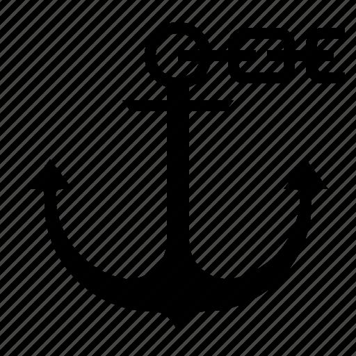 anchor, boat, sailing, sea, summer icon