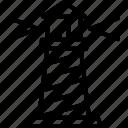 beacon, lighthouse, nautical tower, seamark icon