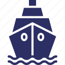 boat, cruise, ship, travel icon