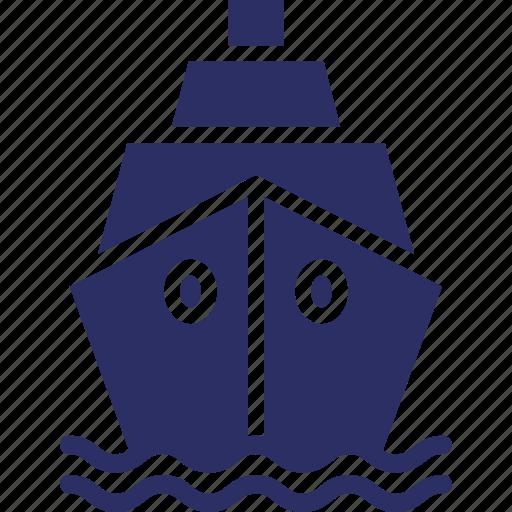 boat, cruise, ship, travel icon