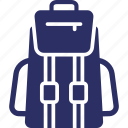 backpack, hiking, travelling bag icon