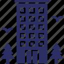 hostel, hotel, house, inn icon