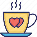beverage, coffee cup, drink, saucer icon
