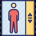 elevator, elevator door, lift, modern elevator icon