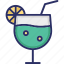 cocktail, cocktail soft drink, nectar, pineapple juice icon