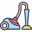 electric broom, hoover, household appliance, vacuum cleaner icon