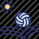 ball game, beach, beach ball, handball icon