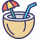 coconut, food, fruit, nut icon