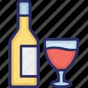 alcoholic drink, wine, champagne, alcoholic beverage icon