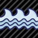aquatic animal, flesh eating animal, sea animal, sea creature icon