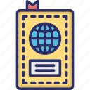 air ticket, passport, ready to go, traveling icon