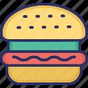 burger, fast food, food, hamburger icon