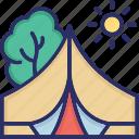 forest, garden, landscape, park icon