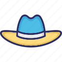 beach hat, cap, hat, headwear icon