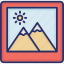 gallery, landscape, photography, picture icon