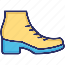 ankle boots, high boots, high shoes, long boots icon