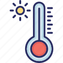 digital thermometer, fever scale, medical, temperature icon