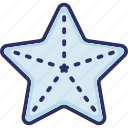 aquatic animal, fish, sea animal, sea star icon