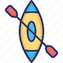 boating, rafting, row boat, water sports icon