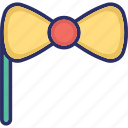 bow props, bow tie, hair bow, ribbon bow icon