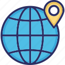 global location, global positioning geography, gps, location navigation icon