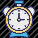 alarm, alarm clock, clock, timepiece icon