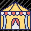 amusement, carnival, circus, circus tent icon