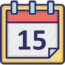 calendar, date, day, reminder icon