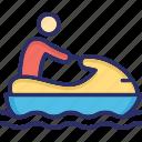 boat, boating, fishing boat, motorboat icon