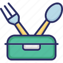 cutlery, dining, fork, kitchenware icon
