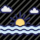 landscape, morning, nature, scenery icon
