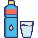 aqua, drinking water, mineral water, water icon