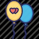 balloon, celebrations, decorations, fun icon